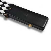 Peradon Leather Case Black White 3QTR