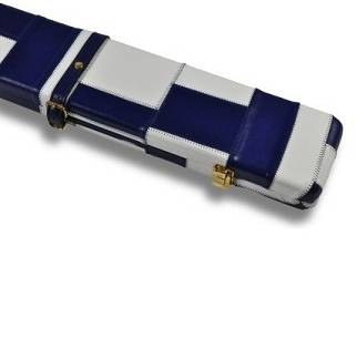 Peradon Leather Case Blue White 3QTR