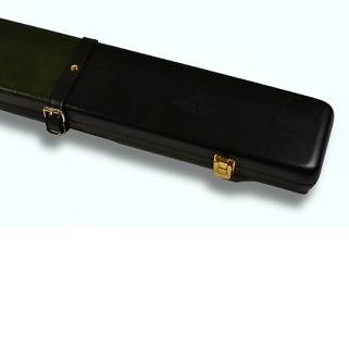 Peradon Leather Case Black Green 3QTR