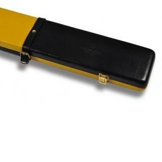 Peradon Leather Case Black Yellow 3QTR