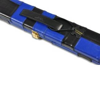 Peradon Leather Case Black Blue Wide 1pc