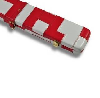 Peradon Leather Case White Red 3QTR
