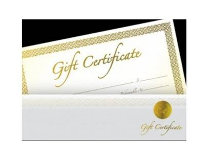 Store Credit Gift Certificate