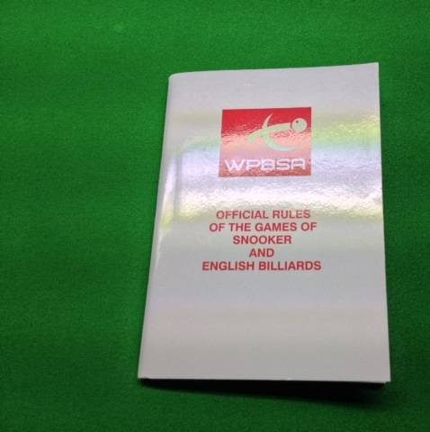 Snooker Rule Book