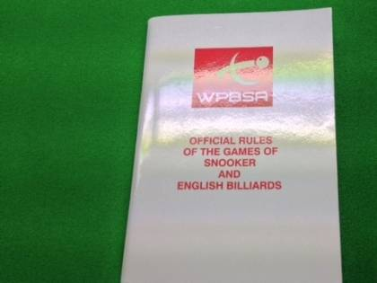 Snooker Rule Book